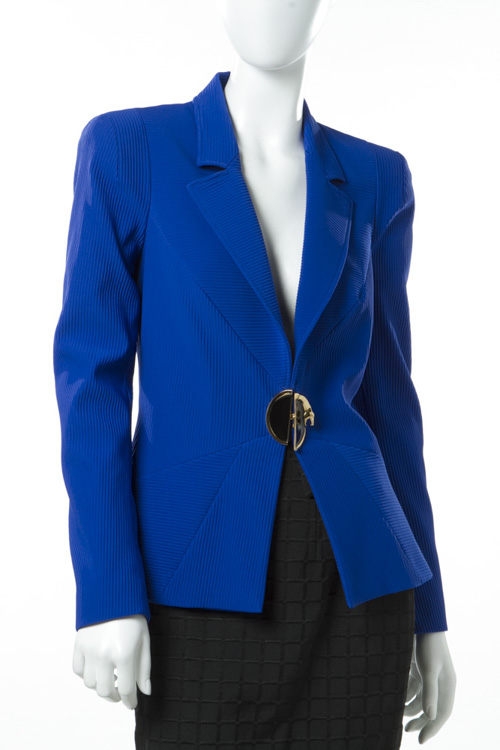 クラスロベルトカヴァリ class roberto cavalli ジャケット シングルジャケット 6093 24 レディース C2IOA503 90019 ブルー 送料無料 10%OFFクーポンプレゼント