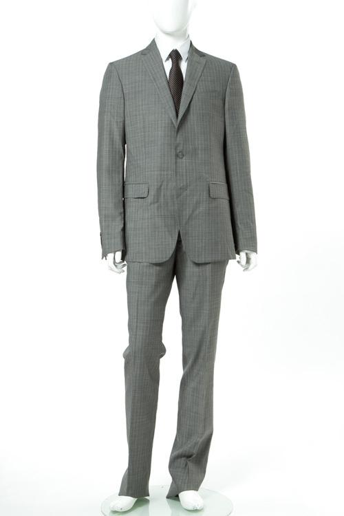 ヴェルサーチコレクション VERSACE COLLECTION スーツ 2つボタン シングル メンズ V100101 VT01450 グレー 送料無料 10%OFFクーポンプレゼント