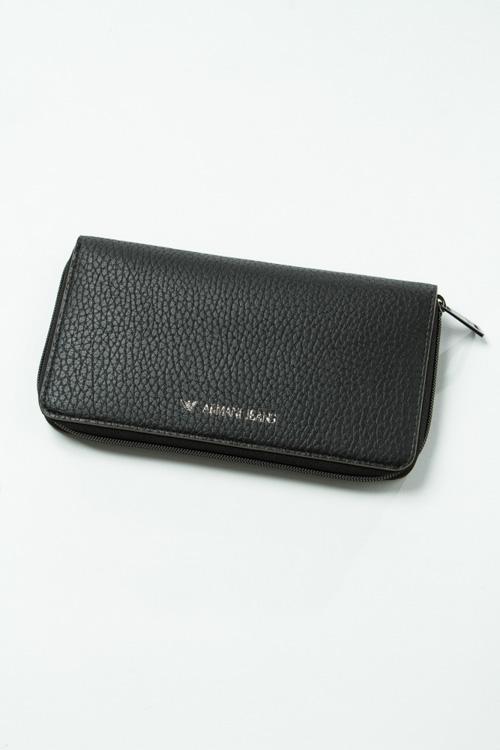 ARMANI JEANS アルマーニ ジーンズ 長財布 ラウンドファスナー ブラック 黒 メンズ財布 かっこいい おしゃれ ブランド プレゼント 新品 送料無料 938002 6A903
