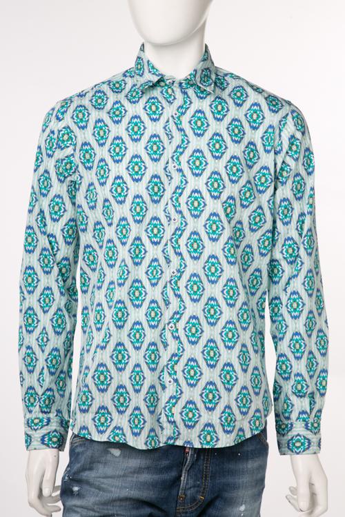 ポッジャンティ 1958 POGGIANTI 1958 シャツ 長袖 66 358E17-03 メンズ FIGI グリーン 送料無料 楽ギフ_包装 10%OFFクーポンプレゼント