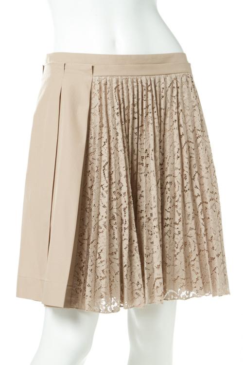ヌメロヴェントゥーノ N°21 スカート プリーツスカート レディース C091 0696 ベージュ 送料無料 楽ギフ_包装 10%OFFクーポンプレゼント