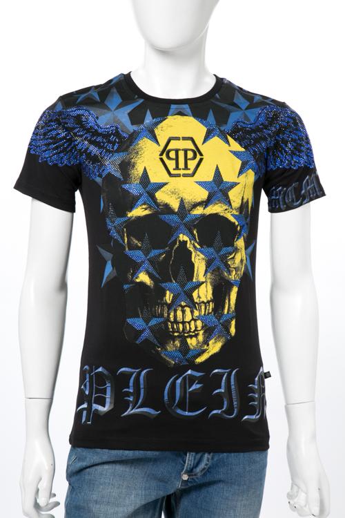 フィリッププレイン PHILIPP PLEIN Tシャツ 半袖 丸首 メンズ P17C MTK0308 ブラック 送料無料 楽ギフ_包装 10%OFFクーポンプレゼント