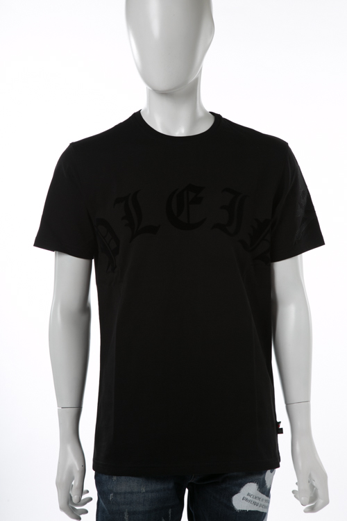 フィリッププレイン PHILIPP PLEIN Tシャツ 半袖 丸首 メンズ F17C MTK0981 ブラック×ブラック 送料無料 楽ギフ_包装 10%OFFクーポンプレゼント