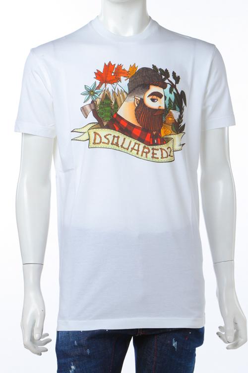 ディースクエアード DSQUARED2 Tシャツ 半袖 丸首 メンズ S74GD0310S22427 ホワイト 送料無料 楽ギフ_包装 10%OFFクーポンプレゼント