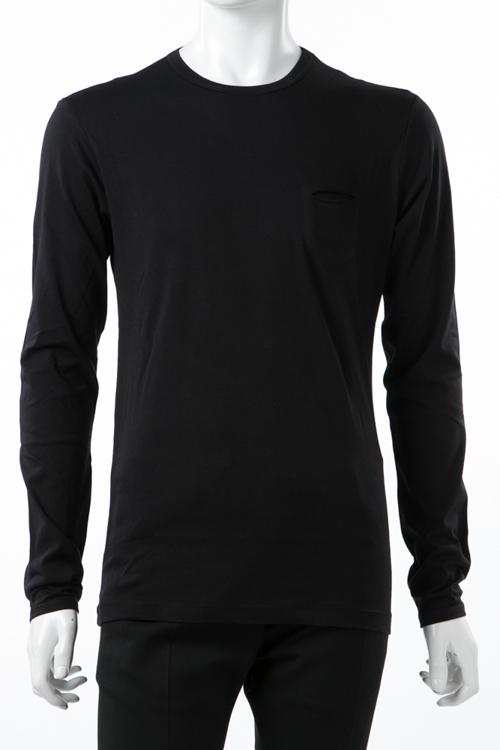ダニエレアレッサンドリーニ DANIELEALESSANDRINI ロングTシャツ ロンT 長袖 丸首 MAGLIA DGIOSTRA ML ST メンズ M90363706 ブラック 送料無料 楽ギフ_包装 10%OFFクーポンプレゼント