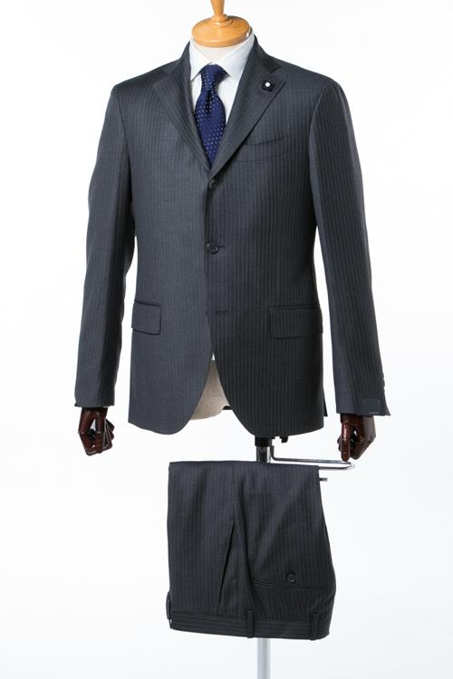 ラルディーニ LARDINI 2ピーススーツ 3B段返り シングル ブートニエール メンズ IE423AE BO138 グレー 送料無料 10%OFFクーポンプレゼント 【ラッキーシール対応】