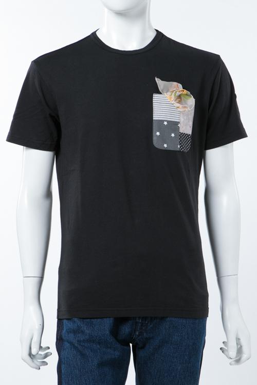 ダニエレアレッサンドリーニ DANIELEALESSANDRINI Tシャツ 半袖 丸首 MAGLIA UN TASCHINO E UNA POCHETT メンズ M6374E6433706 ブラック 送料無料 楽ギフ_包装 10%OFFクーポンプレゼント