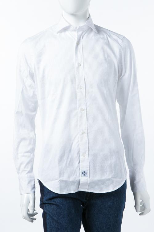 ハイドロゲン HYDROGEN シャツ 長袖 ストライプ メンズ 210412 ホワイト 送料無料 楽ギフ_包装 10%OFFクーポンプレゼント