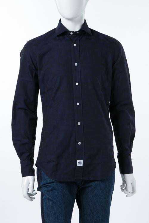 ハイドロゲン HYDROGEN シャツ 長袖 カモフラ メンズ 210420 ブルー迷彩 送料無料 楽ギフ_包装 10%OFFクーポンプレゼント
