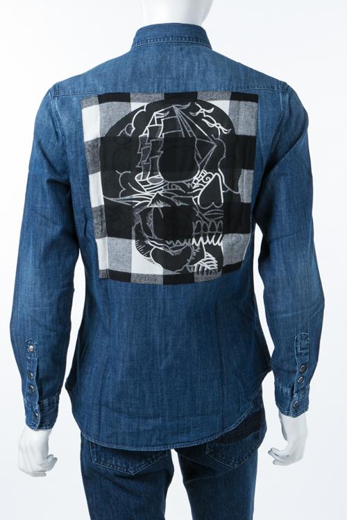 ハイドロゲン HYDROGEN シャツ 長袖 デニムシャツ メンズ 210505 デニム 送料無料 楽ギフ_包装 10%OFFクーポンプレゼント