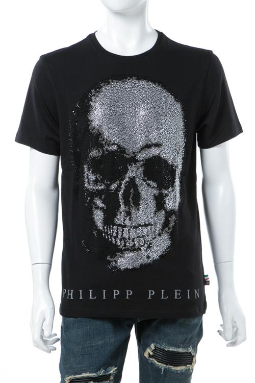 フィリッププレイン PHILIPP PLEIN Tシャツ 半袖 丸首 メンズ F17C MTK0966 ブラック 送料無料 楽ギフ_包装 10%OFFクーポンプレゼント 【ラッキーシール対応】