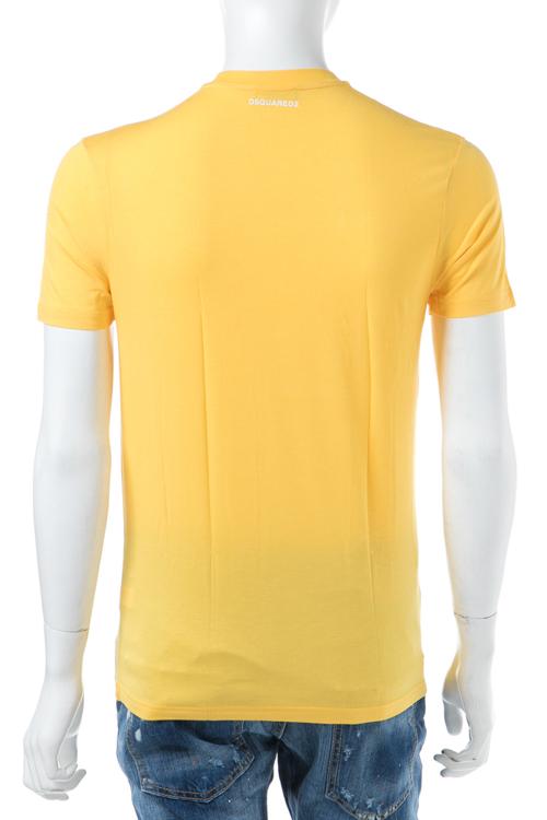 ディースクエアード DSQUARED2 Tシャツアンダーウェア Tシャツ 半袖 丸首 メンズ D9M200900 イエロー 送料無料 楽ギフ_包装 10%OFFクーポンプレゼント 【ラッキーシール対応】
