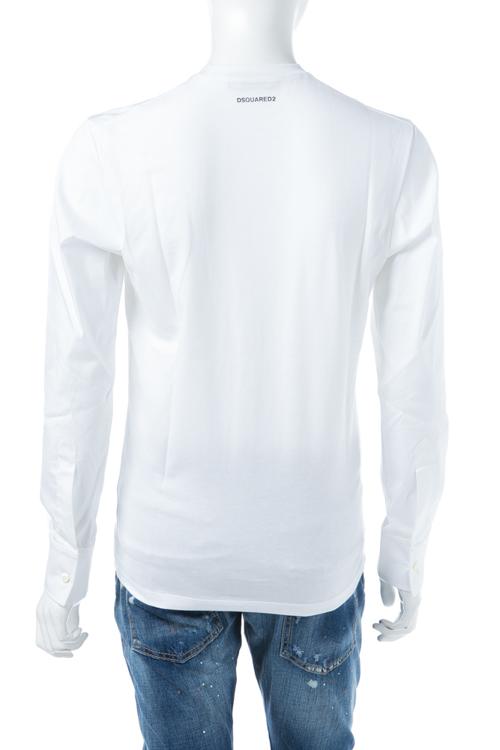 ディースクエアード DSQUARED2 Tシャツアンダーウェア Tシャツ ロンT 長袖 丸首 メンズ D9M0B0710 ホワイト 送料無料 楽ギフ_包装 10%OFFクーポンプレゼント DSQ値下げ 2004値下げ