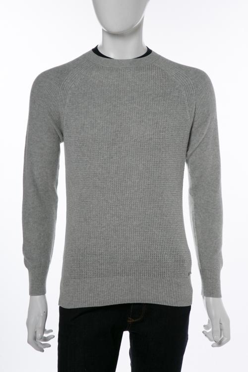 ディーゼル DIESEL セーター ニット プルオーバー 長袖 丸首 K-ALBY PULLOVER メンズ 00SMXU 0HALB グレー 送料無料 楽ギフ_包装 10%OFFクーポンプレゼント