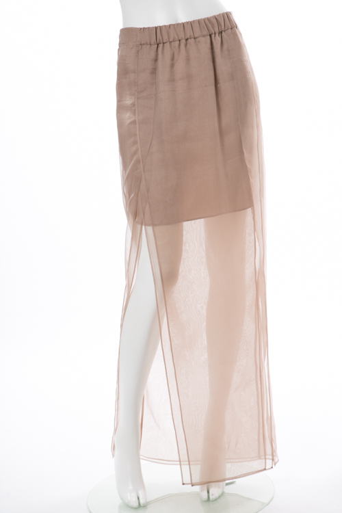 ブルネロクチネリ BRUNELLO CUCINELLI スカート ロングスカート レディース M0F90G2327 ブラウン 送料無料 楽ギフ_包装 10%OFFクーポンプレゼント