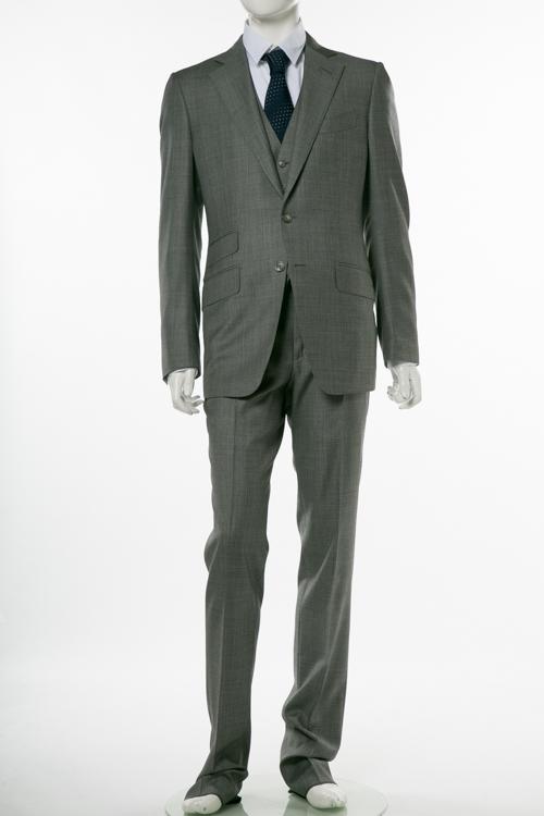 トムフォード TOM FORD 3ピーススーツ ビジネススーツ 7R B メンズ 222R03 31YA4C グレー 送料無料 10%OFFクーポンプレゼント 【ラッキーシール対応】