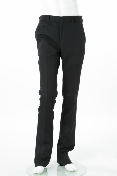 フェンディー FENDI パンツ スラックス メンズ FB0366 5GY ブラック 送料無料 楽ギフ_包装 10%OFFクーポンプレゼント