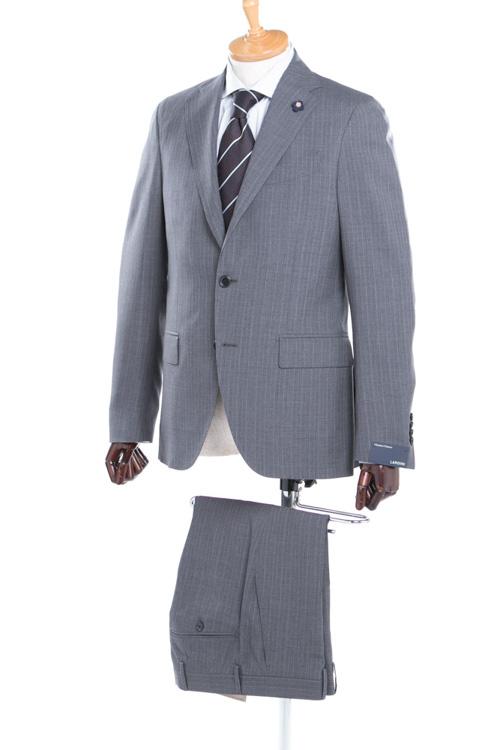 【期間限定10%OFFクーポン配布】ラルディーニ LARDINI 2ピーススーツ シングル EE0423AV PL36431 メンズ 423AV PL36431 グレー 送料無料 10%OFFクーポンプレゼント 【ラッキーシール対応】