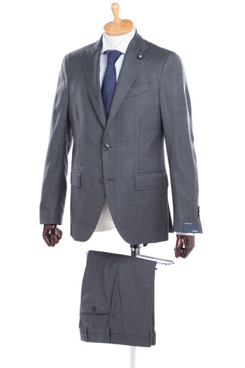 【期間限定10%OFFクーポン配布】ラルディーニ LARDINI 2ピーススーツ シングル EE0423AV BTBM215 173 メンズ 423AV BTBM215 ダークグレイ 送料無料 10%OFFクーポンプレゼント 【ラッキーシール対応】