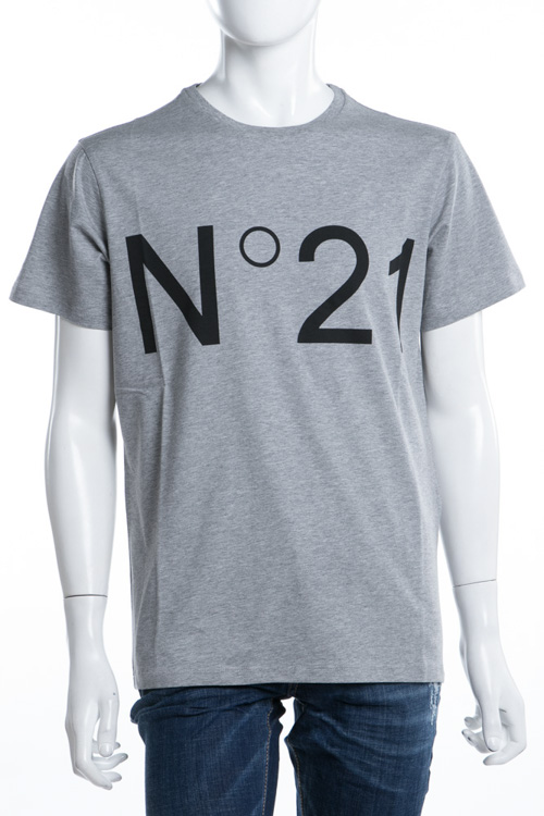 ヌメロヴェントゥーノ N°21 Tシャツ 半袖 丸首 メンズ F021 6363 グレー 送料無料 楽ギフ_包装 10%OFFクーポンプレゼント 【ラッキーシール対応】