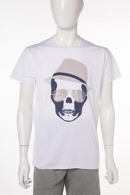 ルシアンペラフィネ lucien pellat-finet ペラフィネ Tシャツ 半袖 丸首 ITALY メンズ EVU2026 ホワイト 送料無料 楽ギフ_包装 10%OFFクーポンプレゼント