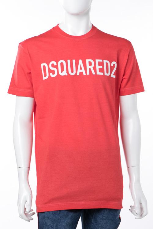 ディースクエアード DSQUARED2 Tシャツ 半袖 丸首 メンズ S74GD0368S22427 レッド 送料無料 楽ギフ_包装 10%OFFクーポンプレゼント DSQ値下げ 2004値下げ