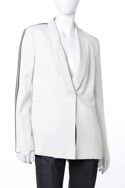 ブルネロクチネリ BRUNELLO CUCINELLI ジャケット レディース MF5343877 ホワイト 送料無料 10%OFFクーポンプレゼント 【ラッキーシール対応】