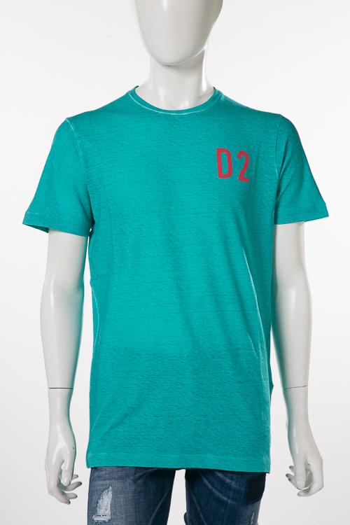 ディースクエアード DSQUARED2 Tシャツ 半袖 丸首 メンズ S74GD0373S22507 グリーン 送料無料 楽ギフ_包装 10%OFFクーポンプレゼント