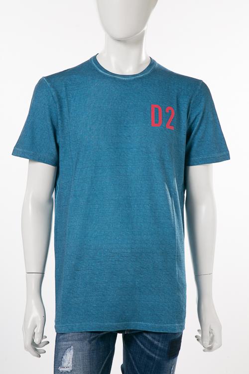 ディースクエアード DSQUARED2 Tシャツ 半袖 丸首 メンズ S74GD0373S22507 ブルー 送料無料 楽ギフ_包装 10%OFFクーポンプレゼント