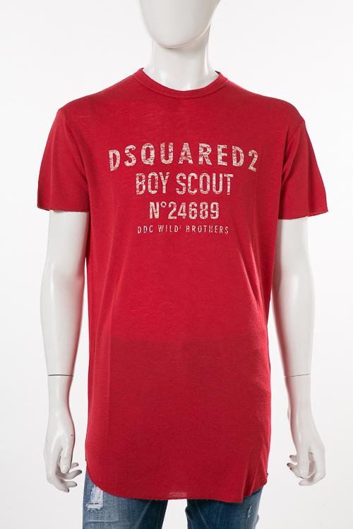 ディースクエアード DSQUARED2 Tシャツ 半袖 丸首 メンズ S74GD0392S22620 レッド 送料無料 楽ギフ_包装 2018SS_SALE 10%OFFクーポンプレゼント DSQ値下げ 2004値下げ