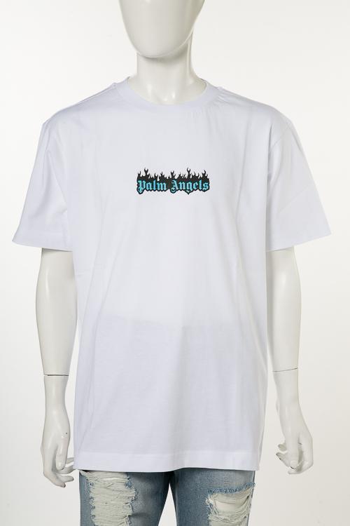 パームエンジェルス PALM ANGELS Tシャツ 半袖 丸首 PMAA001S 18084019 メンズ AA001S18 084019 ホワイト 送料無料 楽ギフ_包装 10%OFFクーポンプレゼント
