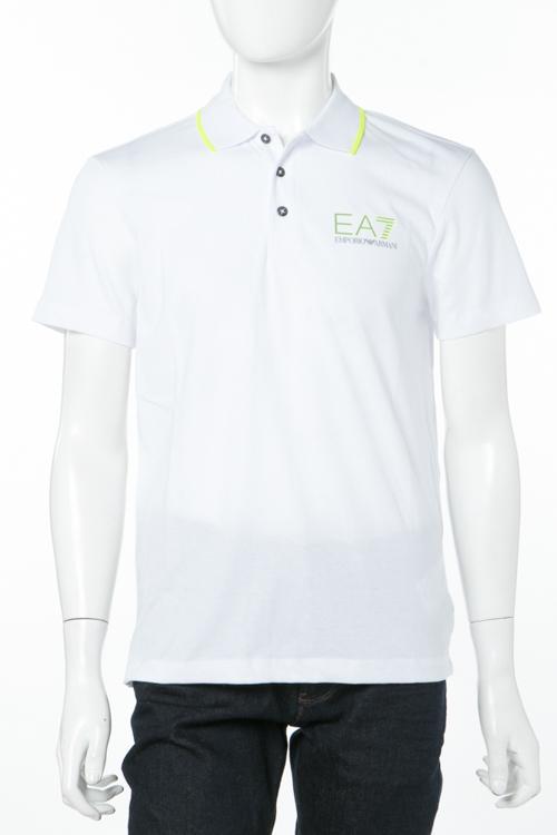 アルマーニ エンポリオアルマーニ Emporio Armani EA7 ポロシャツ 半袖 メンズ 3ZPF65 PJJ6Z ホワイト 送料無料 楽ギフ_包装 10%OFFクーポンプレゼント