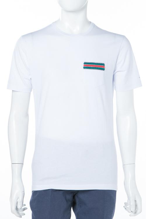 ダニエレアレッサンドリーニ DANIELEALESSANDRINI Tシャツ 半袖 丸首 MAGLIA DELLA CONTRADA MC ST メンズ M6516E6433800 ホワイト 送料無料 楽ギフ_包装 10%OFFクーポンプレゼント