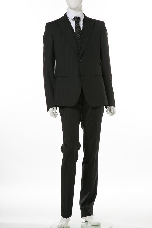 ドルチェ&ガッバーナ ドルガバ DOLCE&GABBANA 3ピーススーツ シングル メンズ G1ULMT FR2O3 ブラック 送料無料 10%OFFクーポンプレゼント 【ラッキーシール対応】
