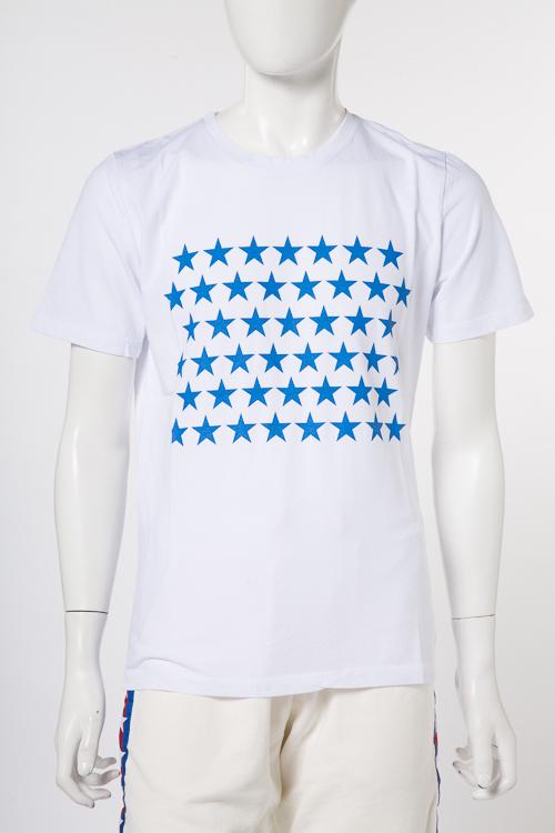 マッキアジェー MACCHIA J Tシャツ 半袖 丸首 メンズ 18SMT 34 T3014 ホワイト×ブルー 送料無料 楽ギフ_包装 10%OFFクーポンプレゼント 【ラッキーシール対応】