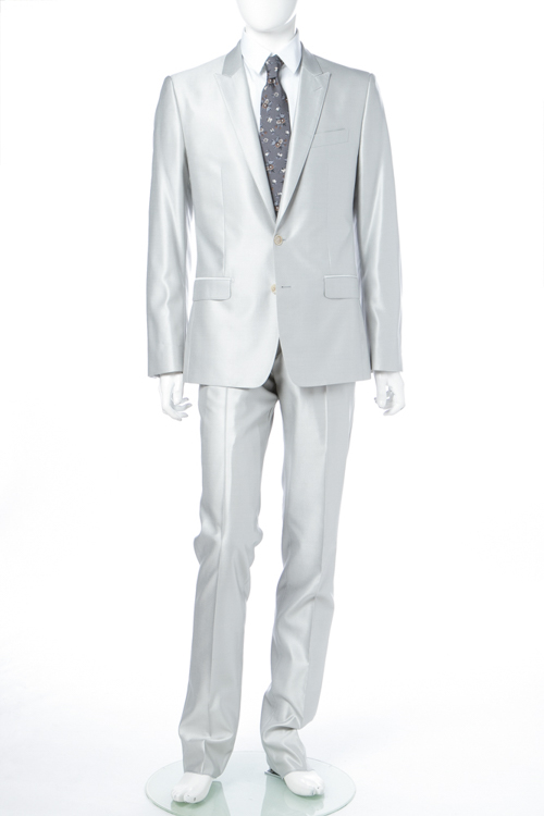 ドルチェ&ガッバーナ ドルガバ DOLCE&GABBANA 2ピーススーツ シングル MARTINI メンズ G1NQCT FU3IZ シルバー 送料無料 10%OFFクーポンプレゼント 【ラッキーシール対応】