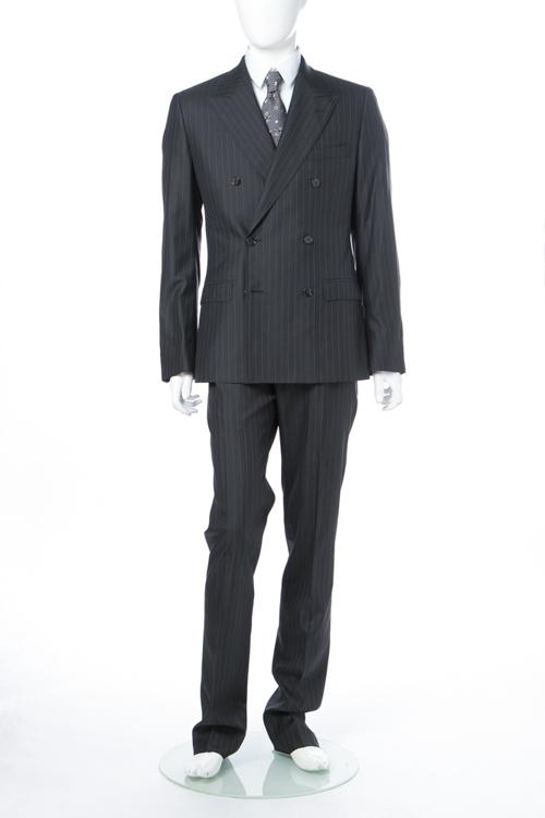ドルチェ&ガッバーナ ドルガバ DOLCE&GABBANA 2ピーススーツ ダブル SICILIA メンズ G1TLCT FR3DO ダークグレイ 送料無料 10%OFFクーポンプレゼント 【ラッキーシール対応】