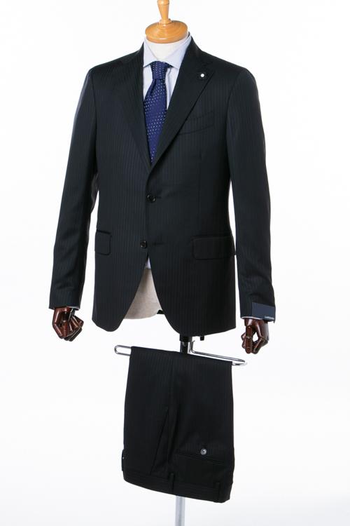 ラルディーニ LARDINI 2ピーススーツ シングル ST 423AE ASBM7042 02 メンズ IG0423AE 704202 ブラック 送料無料 10%OFFクーポンプレゼント アウトレット 【ラッキーシール対応】