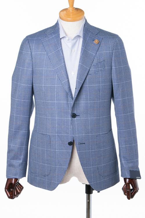 ラルディーニ LARDINI ジャケット テーラードジャケット シングル ST 557AE BRBM6204 42 メンズ IG0557AE 620442 ブルー 送料無料アウトレット 10%OFFクーポンプレゼント 2004値下げ