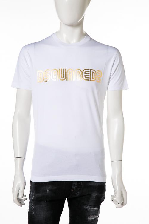 ディースクエアード DSQUARED2 Tシャツ 半袖 丸首 クルーネック メンズ S74GD0412S22844 ホワイト 送料無料 楽ギフ_包装 10%OFFクーポンプレゼント DSQ値下げ 2004値下げ