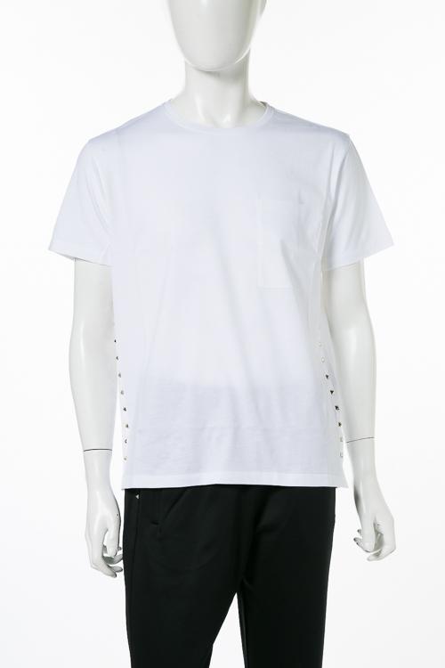 ヴァレンティノ Valentino Tシャツ 半袖 丸首 メンズ QV3MG04Y3LE ホワイト 送料無料 楽ギフ_包装 10%OFFクーポンプレゼント 2018年秋冬新作 【ラッキーシール対応】