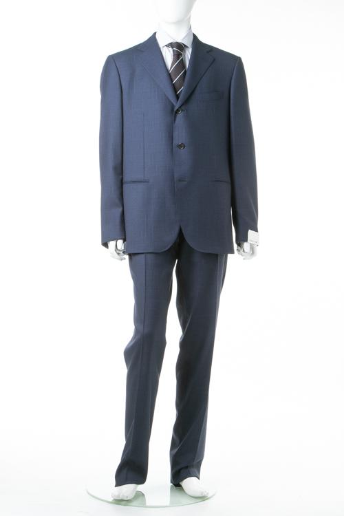 【のブラックフライデー 全品10%OFFクーポン配布中】カルーゾ CARUSO 2ピーススーツ シングル LQ1PM301F 0149 メンズ LQ1PM301F240104 ブルー 送料無料 10%OFFクーポンプレゼント