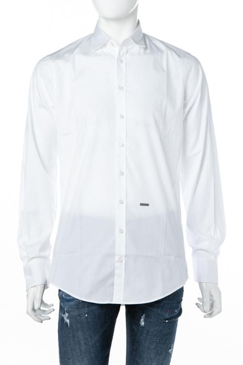 ディースクエアード DSQUARED2 シャツ 長袖 メンズ S74DM0074S44131 ホワイト 送料無料 楽ギフ_包装 10%OFFクーポンプレゼント