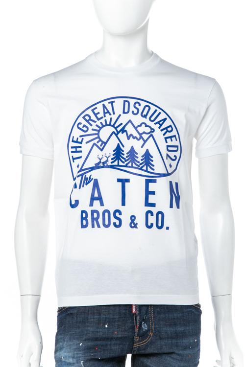 ディースクエアード DSQUARED2 Tシャツ 半袖 丸首 クルーネック メンズ S74GD0275S22427 ホワイト 送料無料 楽ギフ_包装 10%OFFクーポンプレゼント DSQ値下げ 2004値下げ