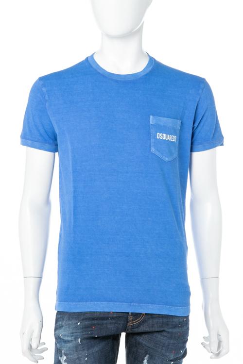 ディースクエアード DSQUARED2 Tシャツ 半袖 丸首 クルーネック メンズ S74GD0292S20694 ブルー 送料無料 楽ギフ_包装 10%OFFクーポンプレゼント 【ラッキーシール対応】