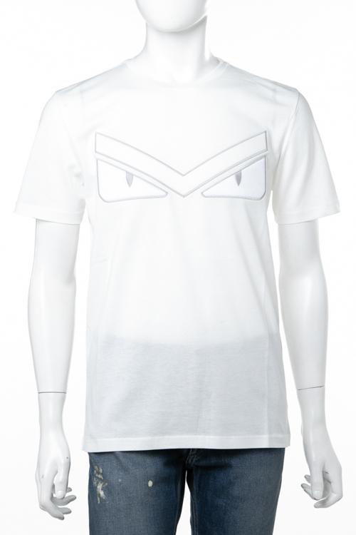 【全品対象10%OFFクーポン配布】フェンディー FENDI Tシャツ 半袖 丸首 クルーネック メンズ FAF532 A54S ホワイト 送料無料 楽ギフ_包装 10%OFFクーポンプレゼント ラッキーシール対応 2018年秋冬新作