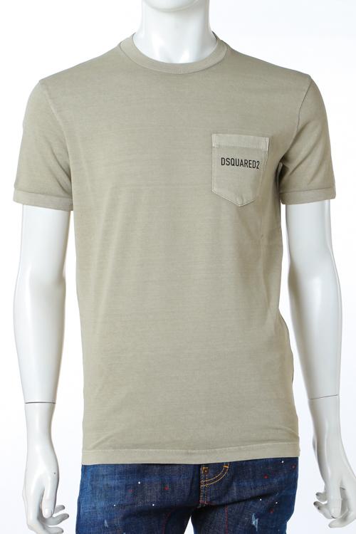 ディースクエアード DSQUARED2 Tシャツ 半袖 丸首 メンズ S74GD0292S20694 カーキ 送料無料 楽ギフ_包装 10%OFFクーポンプレゼント 【ラッキーシール対応】