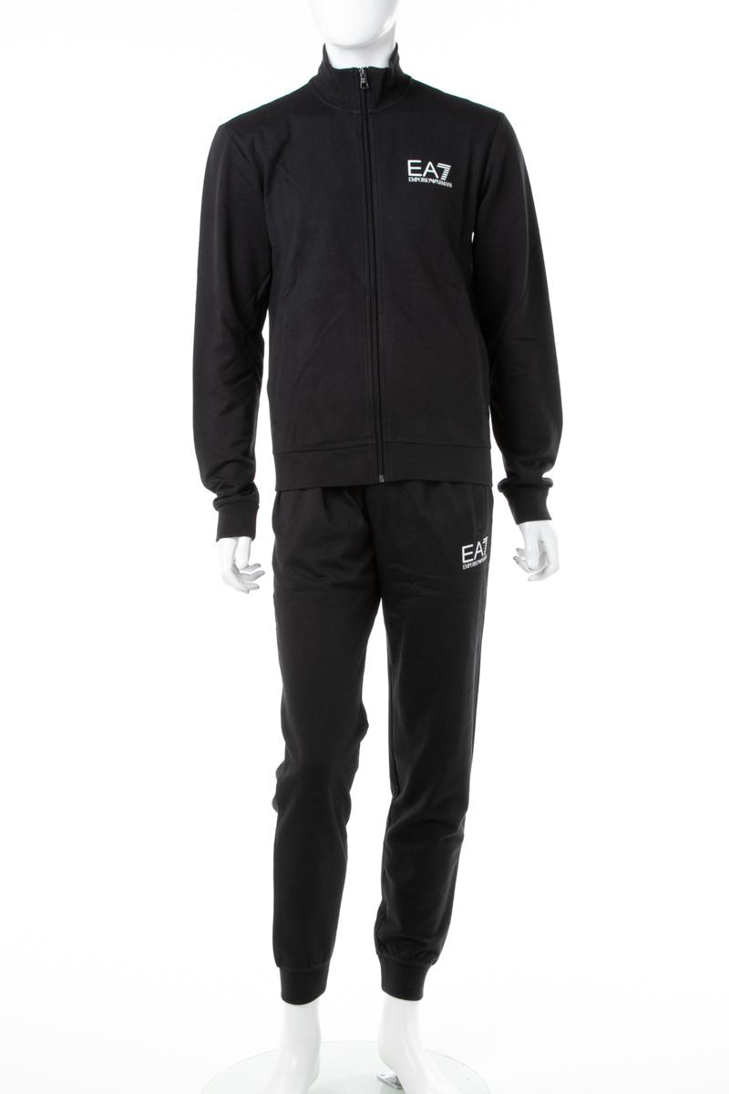 アルマーニ エンポリオアルマーニ Emporio Armani EA7 スーツ セットアップジャージ メンズ 6ZPV51 PJ05Z ブラック 送料無料 10%OFFクーポンプレゼント ラッキーシール対応