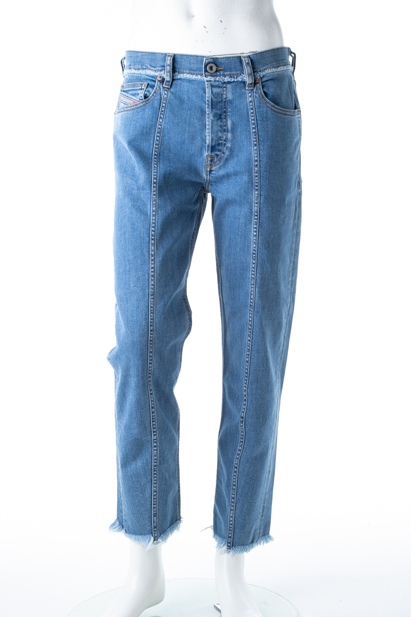 ディーゼル DIESEL ジーンズパンツ ストレートデニム DAGH L.32 PANTALONI メンズ 00S7Q5 084TD ブルー 送料無料 楽ギフ_包装 10%OFFクーポンプレゼント