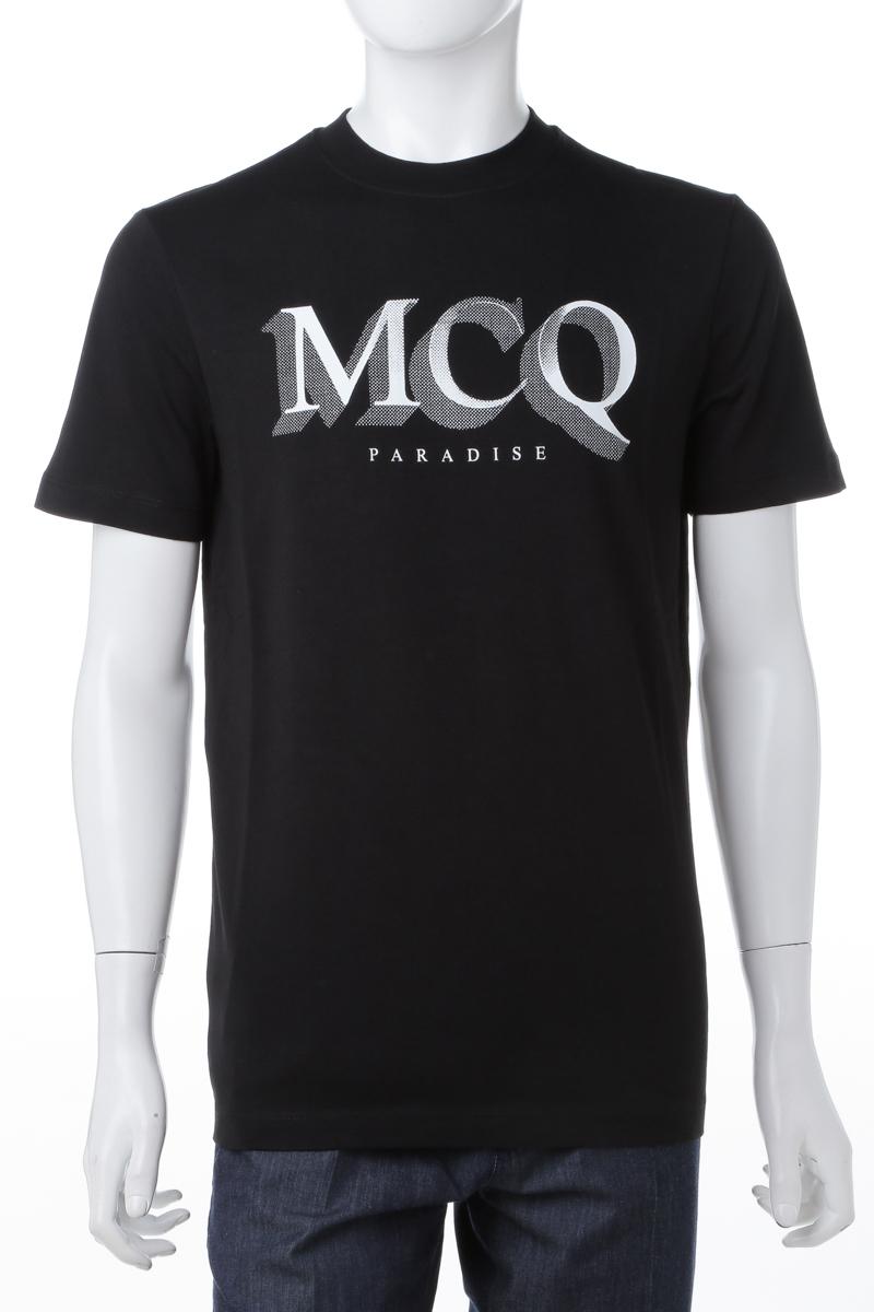 エムシーキュー MCQ Tシャツ 半袖 丸首 クルーネック メンズ 277605 RLH44 ブラック 送料無料 楽ギフ_包装 10%OFFクーポンプレゼント
